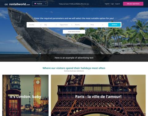 Rentallworld - number one booking platform